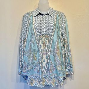 Soft Surroundings Tabitha Floral Paisley Tunic Top